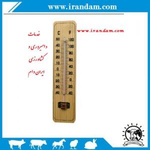 دماسنج دیواری  چوبی..